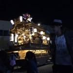 藤井寺のだんじりが前夜祭をしてました