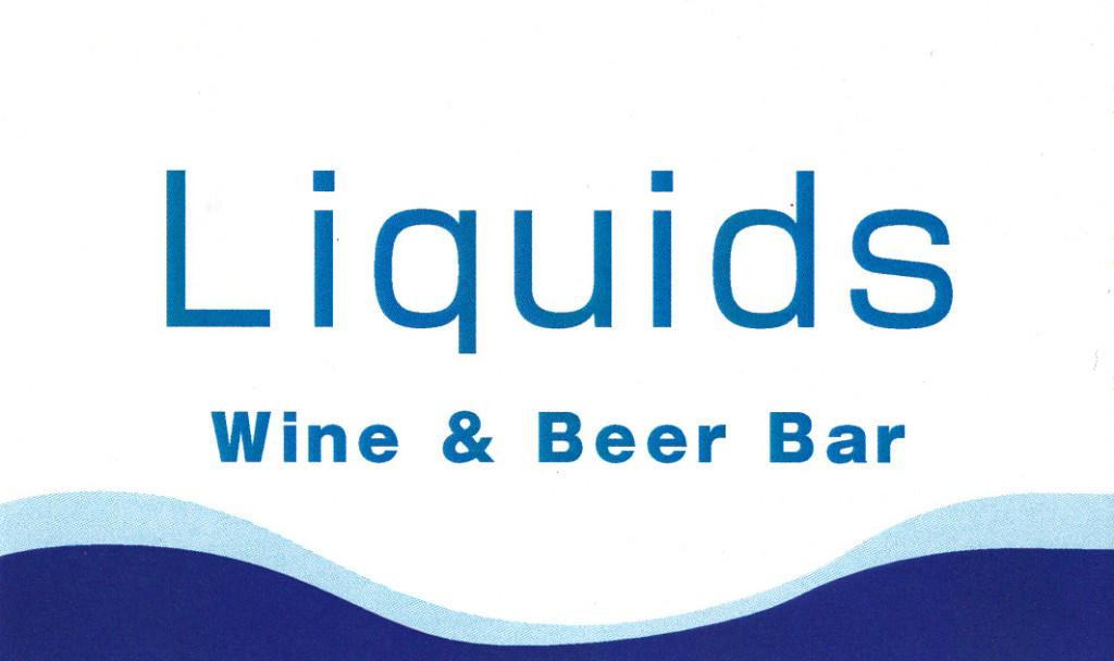 Wine & Beer Bar Liquids(リキッド)のショップカード表面